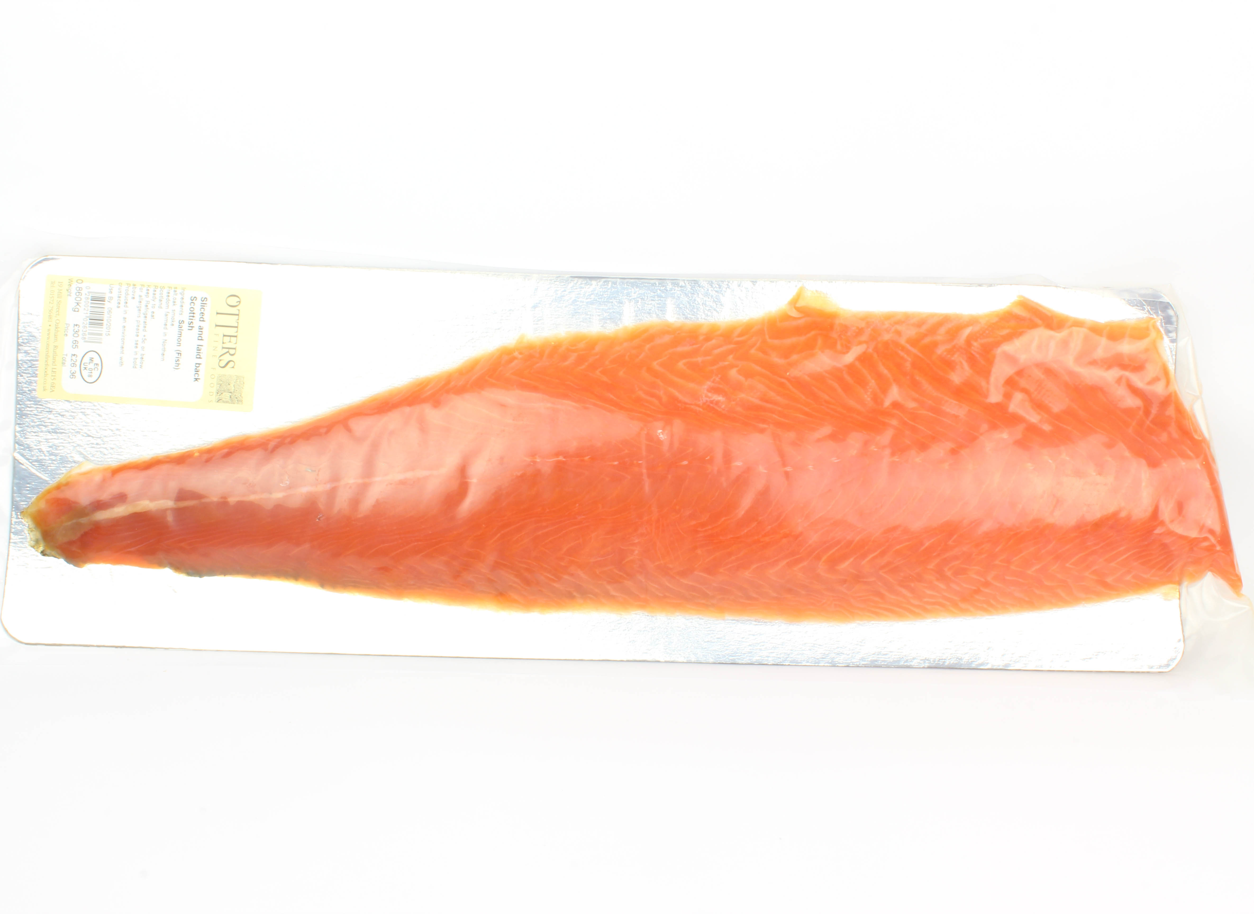 hand sliced scottish smoked salmon side otters fine foods